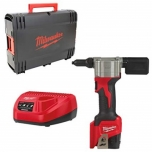 Rivet Guns Milwaukee M12 BPRT-201X + charger and 2.0 Ah battery